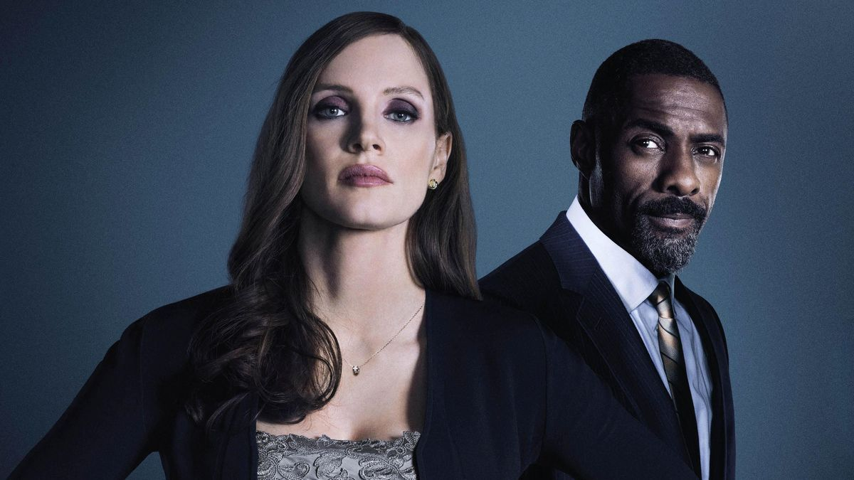 Molly's Game starring Jessica Chastain and Idris Elba