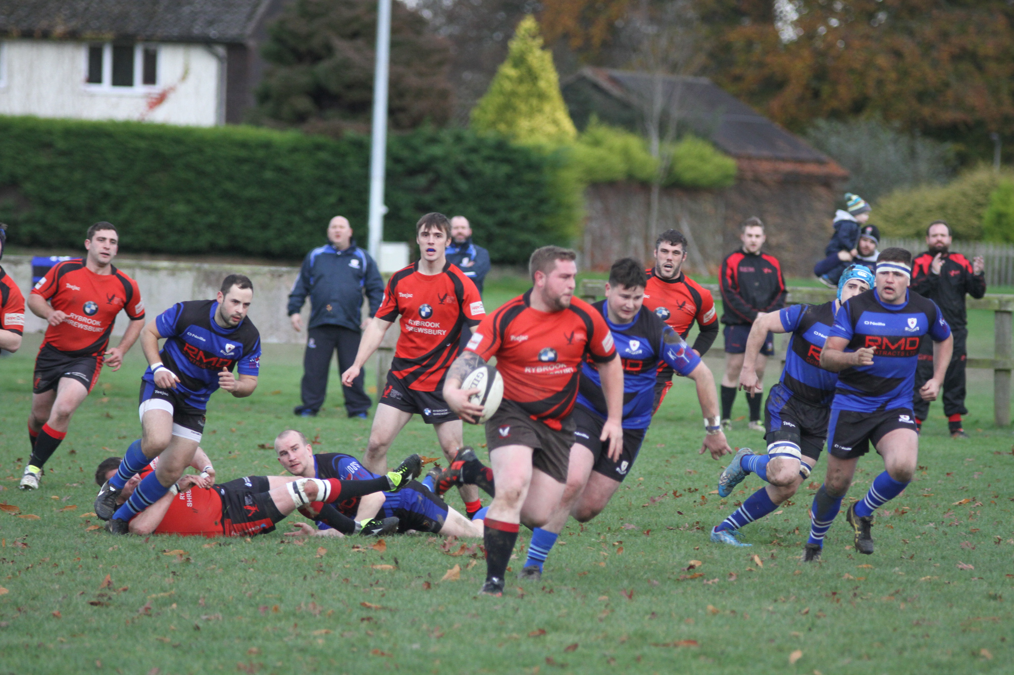 Oswestry in action at Granville Park