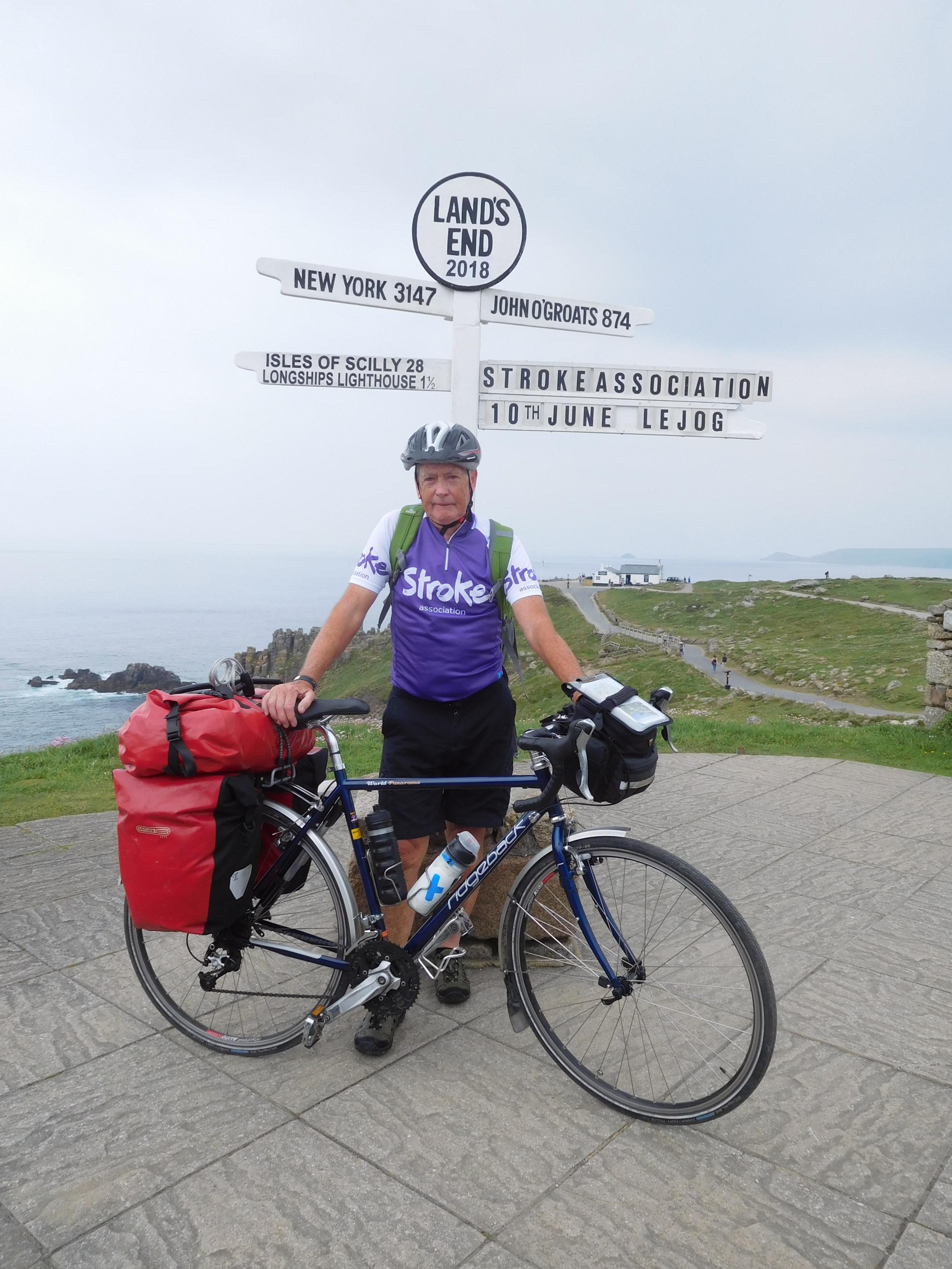 Mike Harrington at Land's End