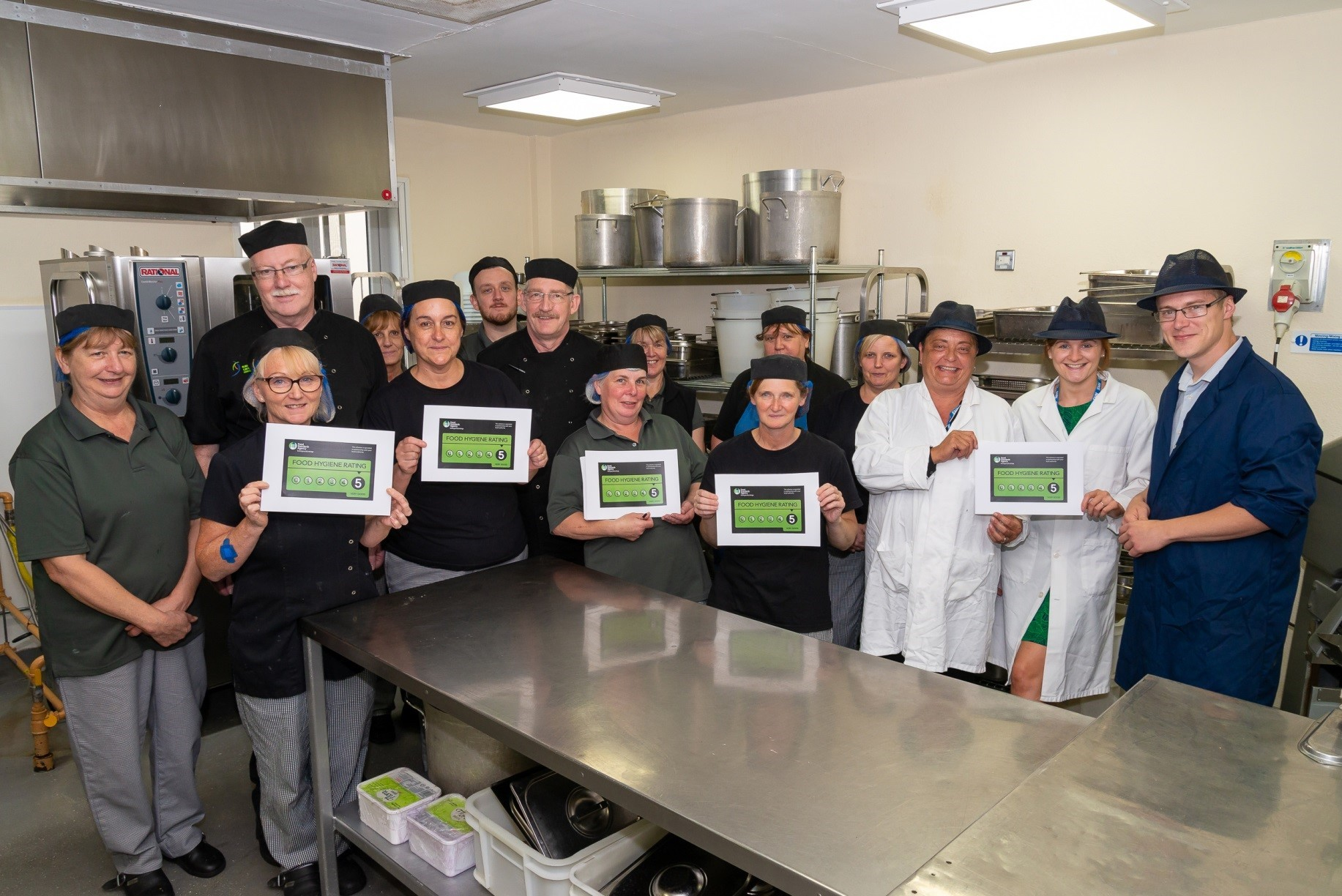 The Catering Team at RJAH celebrating their success.