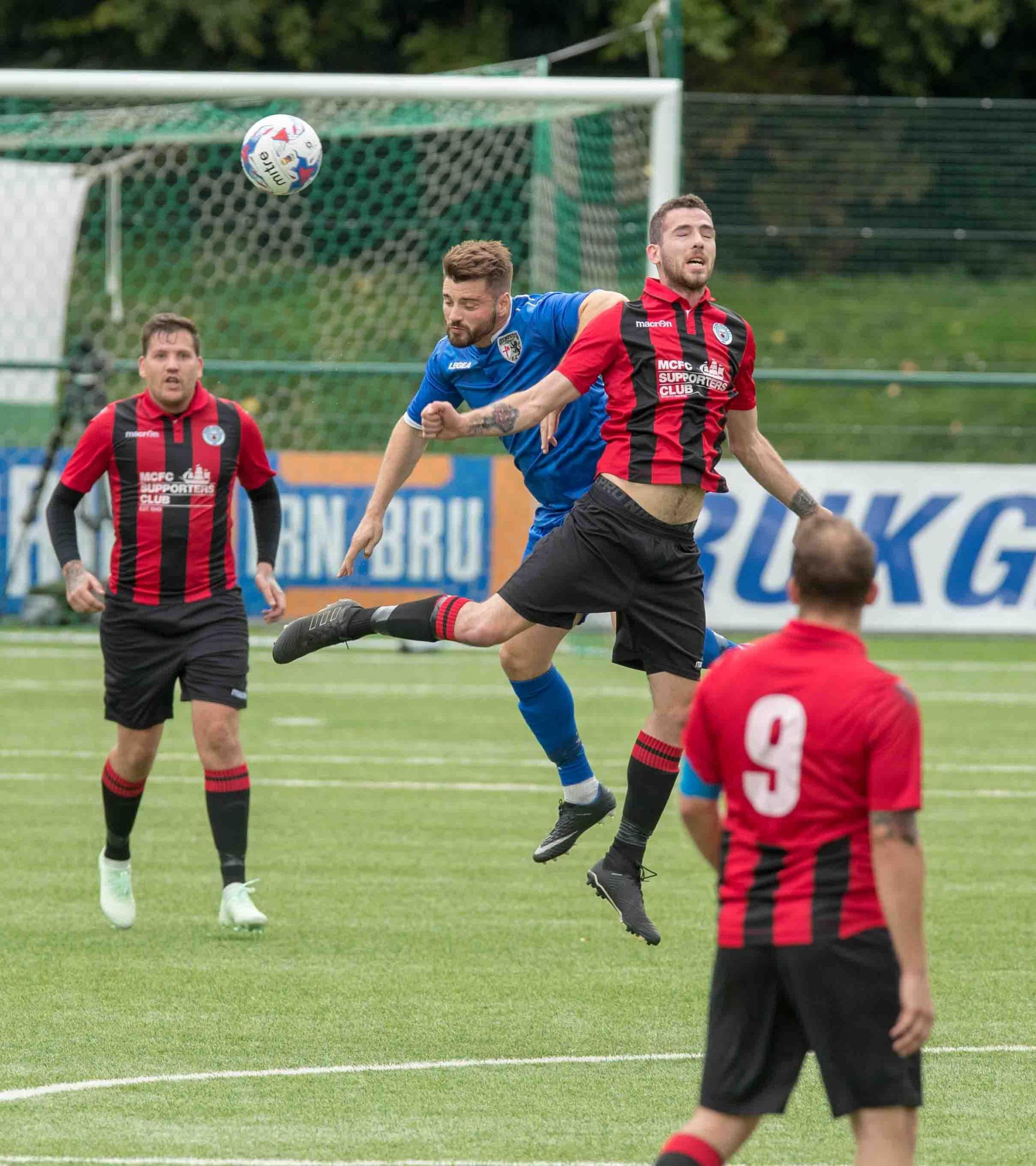 FC Oswestry against Maine Road Saturday, September 9. Picture: Nick Evans-Jones