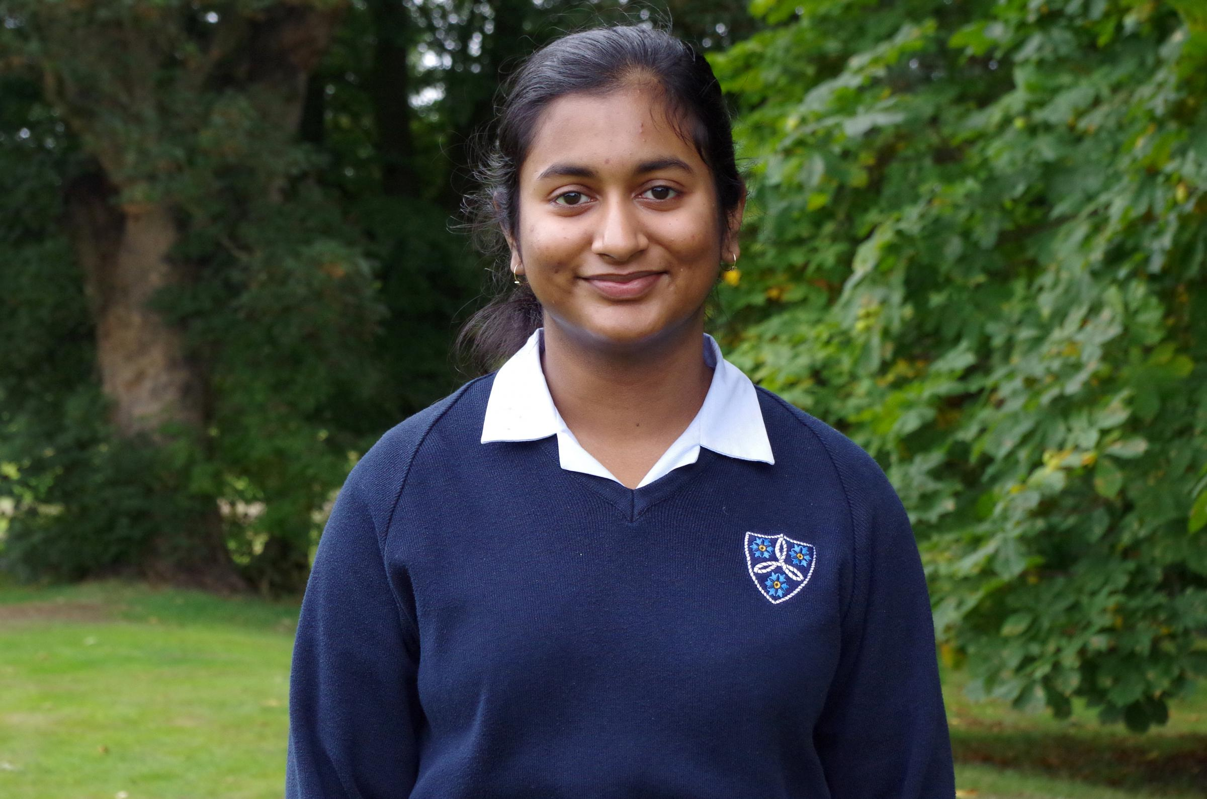 15-year-old Simran Sajan has been recognised as one of the Young Speakers of the year