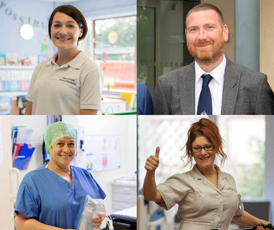 Ffion Evans, Pete Gallacher, Clare Jones and Belinda Potts are all in the running for Patient Choice Awards