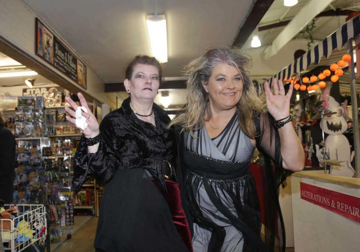 stall-holders put on their scary faces for halloween | border