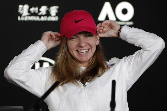 Simona Halep was all smiles ahead of the Australian Open