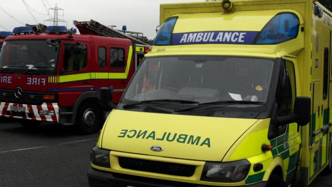 Library image of ambulance and fire engine