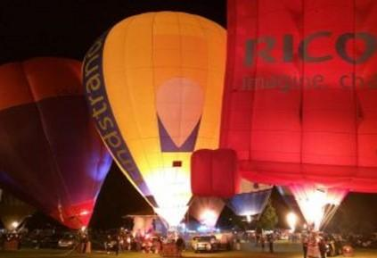 Organisers of this year's Oswestry Balloon Carnival took this night-time shot