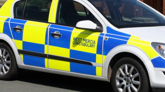 West Mercia Police car