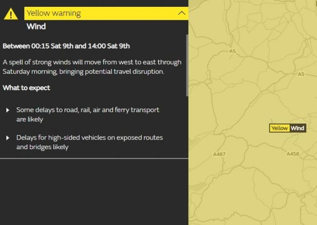 The Met Office's weather warning