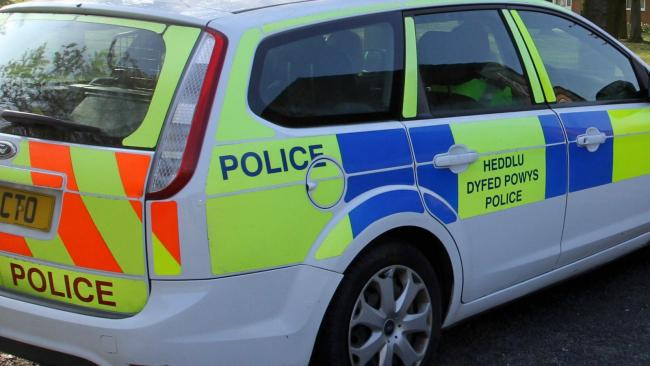 Library image of Dyfed Powys Police car