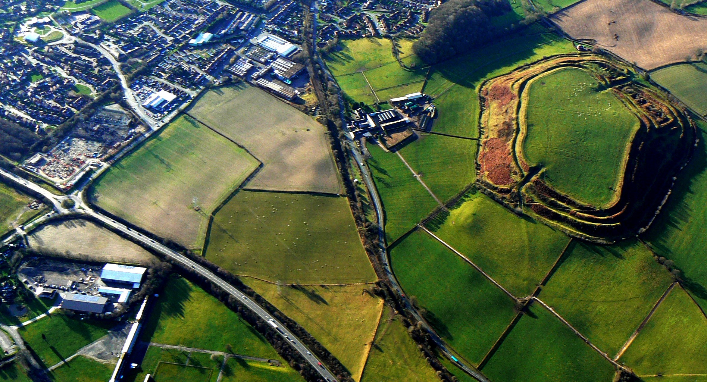 Old Oswestry hillfort and CROP lie within 200 metres of each other close to the Cambrian Heritage Railway line north of Oswestry.