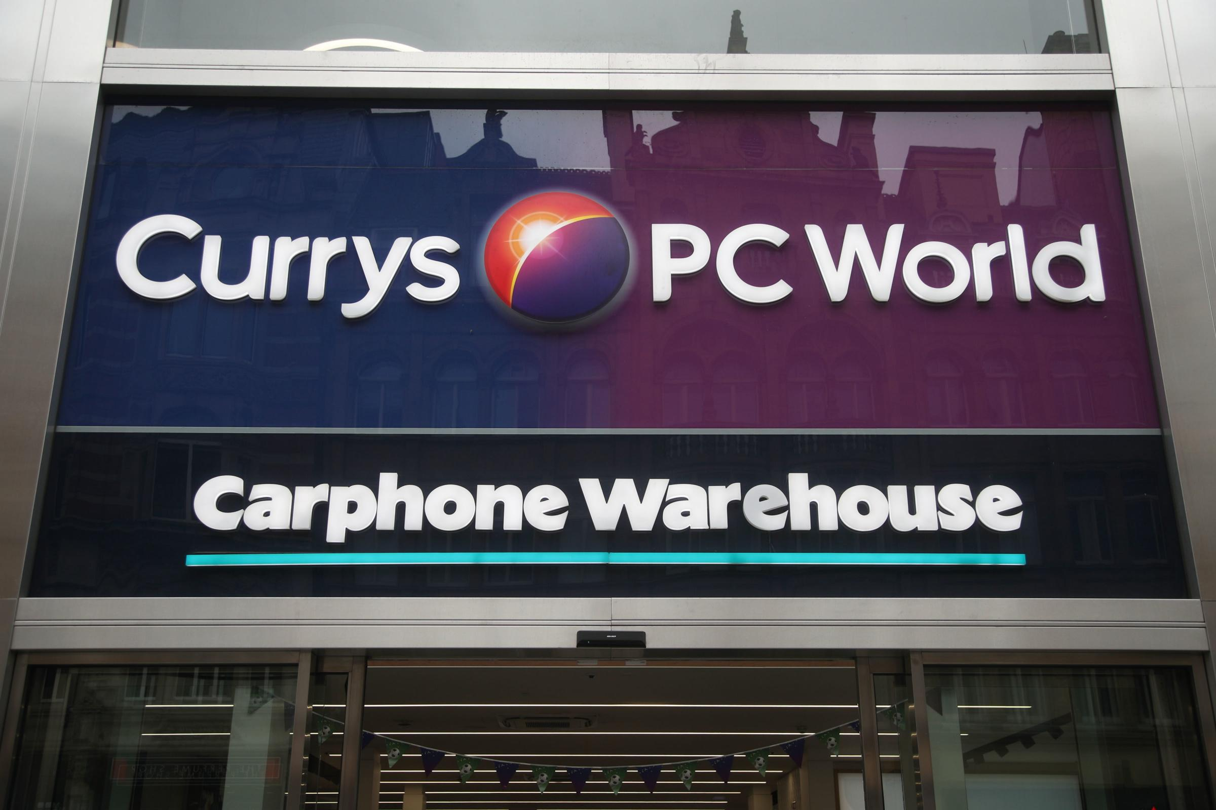 A branch of Carphone Warehouse in Currys PC World, on Oxford Street, central London