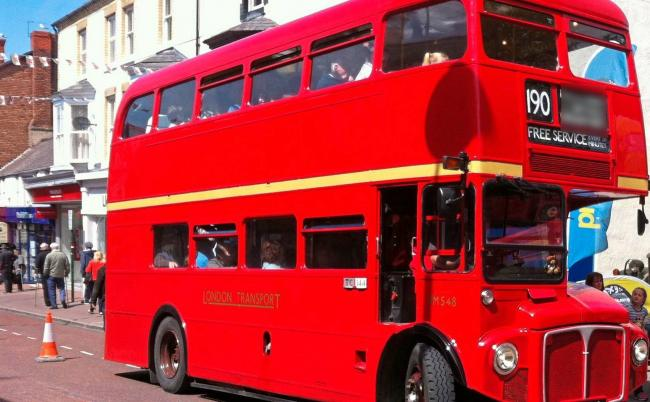 Vintage red London bus will be coming to Llangollen