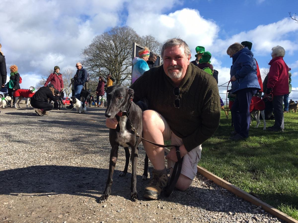 St Patrick's Day celebrated at Chirk Castle with dog walk
