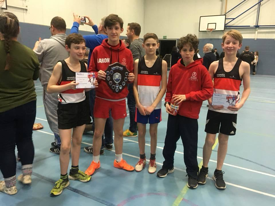 U13s boys county title champions. (L to R) Massimo Wyatt, Arron Warburton, Jack Tinney and Cato Pugsley. (Not pictured Ollie Rogers who had to leave early).