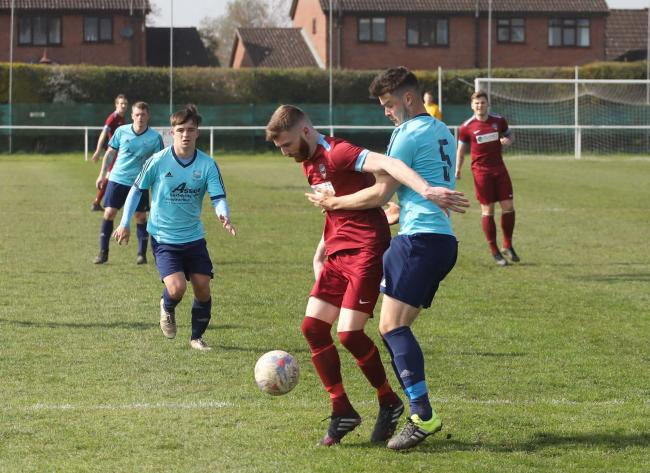 Rangers in action against Sandbach United. Picture by Ian Stading