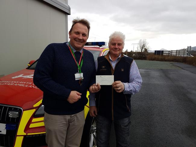 Andrew Hall, Wales Air Ambulance and Mark Lawrence, Llanforda Sporting Agency