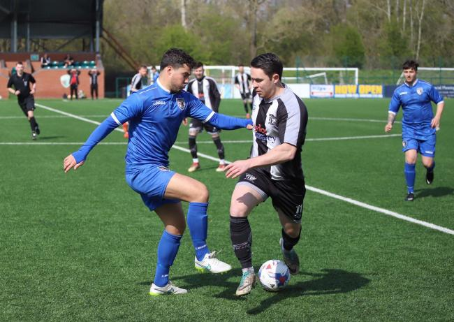 Louis Moss in action against Barnton. Picture by Ian Stading