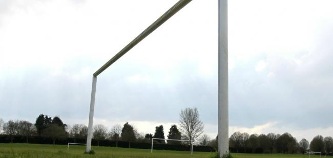 Library image of football goalposts