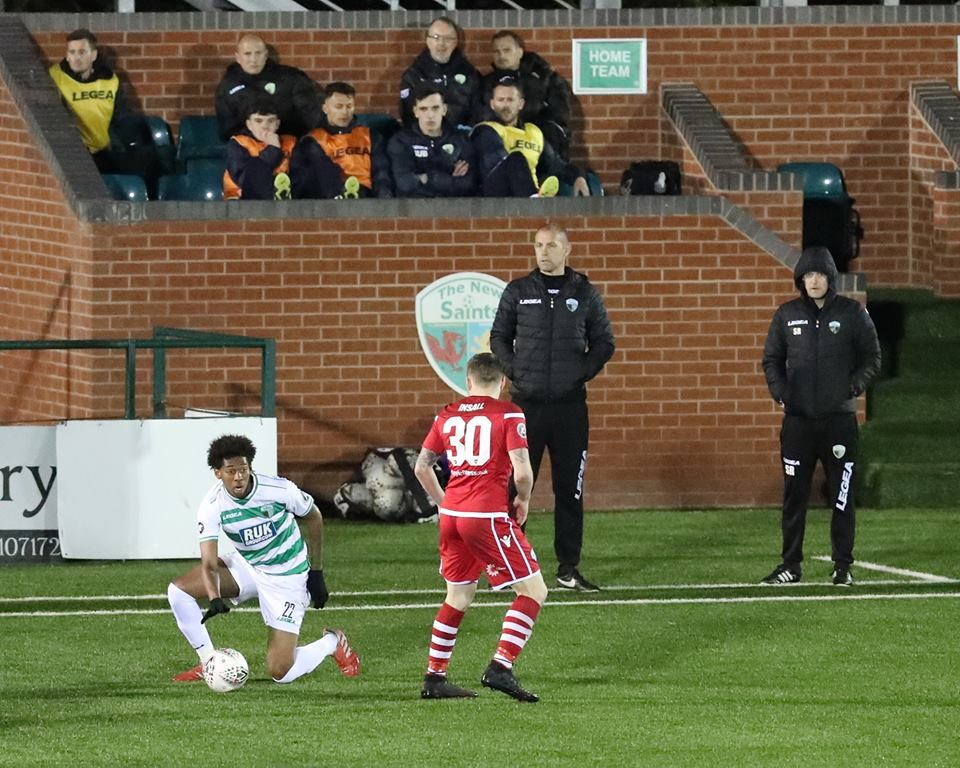 Scott Ruscoe (right) looks on as TNS beat Nomads. Picture by Brian Jones