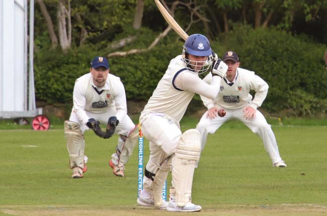 Warrick Fynn on his way to a century. Picture by Ian Stading.