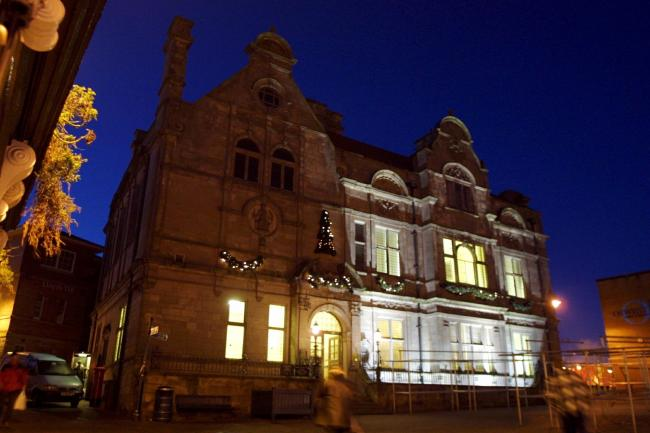 Oswestry Christmas Lights. Guild Hall..
