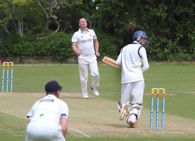 Alex Huxleymakes a run against Himley. Picture by Ian Stading