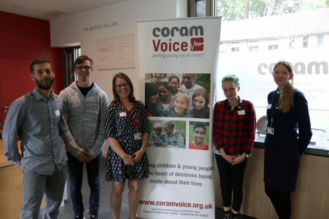 Members of the Coram Voice support team
