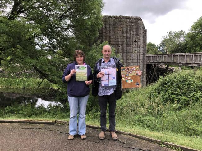 Joy Duddell and Jonjo Evans at Whittington Castle ahead of the Go Green event